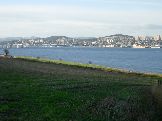 Dundee and the Tay estuary from Fife