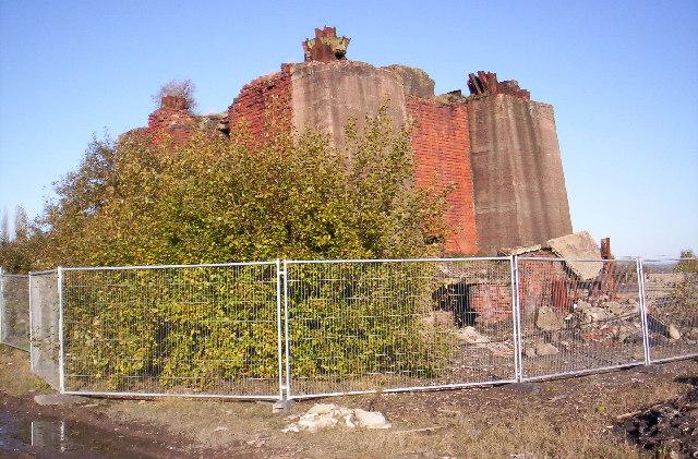 Maypole Colliery, Abram - remnants of pithead winding gear