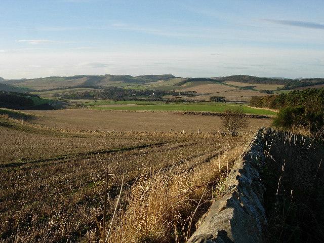 Autumn fields in Fife