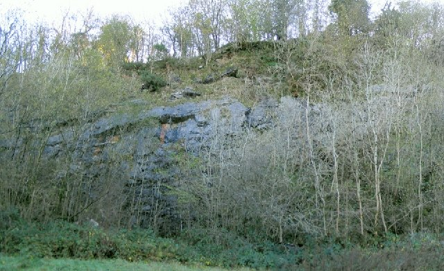 Long abandoned quarry near Blaengweche