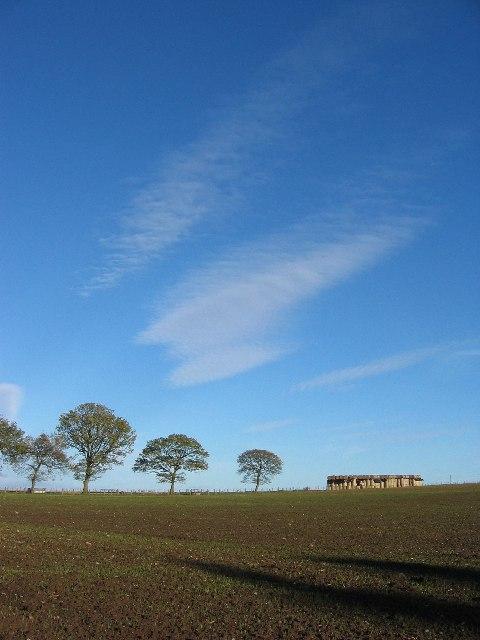 November sky over Perthshire farmland