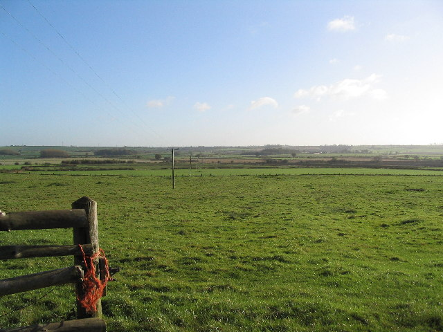 View from the end of Racecourse Lane, Burton Lazars