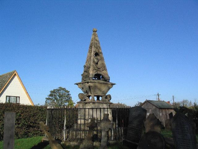 Georgian tombstone, Burton Lazars