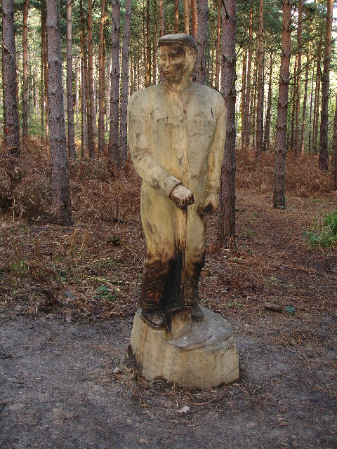 Sculpture in Broxbourne Woods.