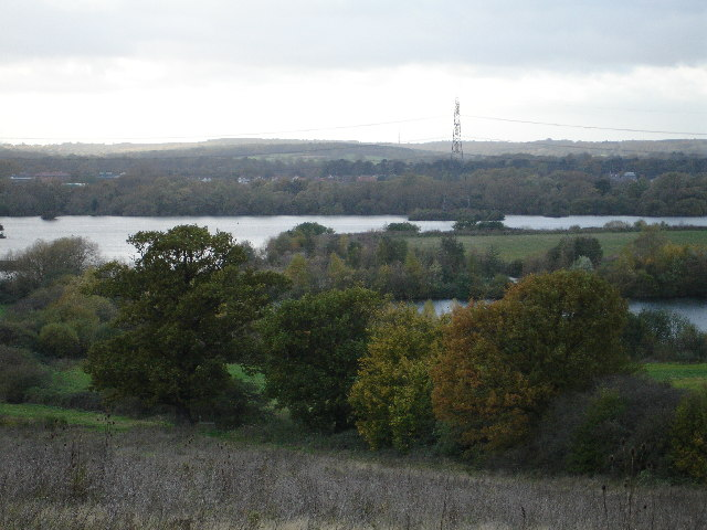 Lee Valley  from the top of Colemans Lane.