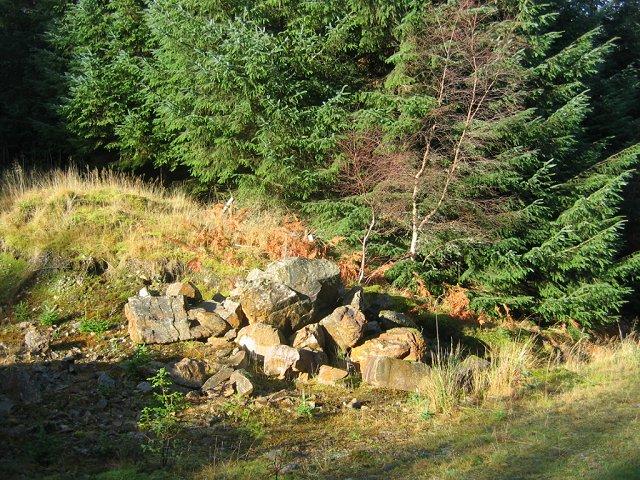 Quarry, Creag Ghlas Plantation.