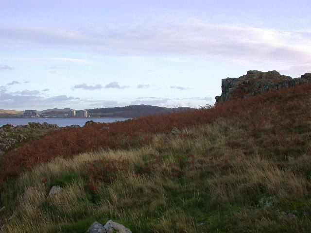 Hunterston nuclear power station from the northern tip of Little Cumbrae