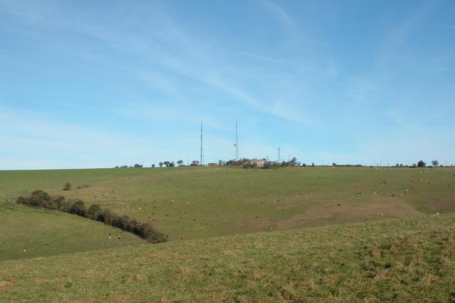 HMS Mercury's Radio Masts atop Wether Down