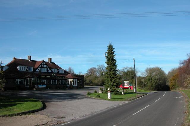 The Hogs Lodge pub.