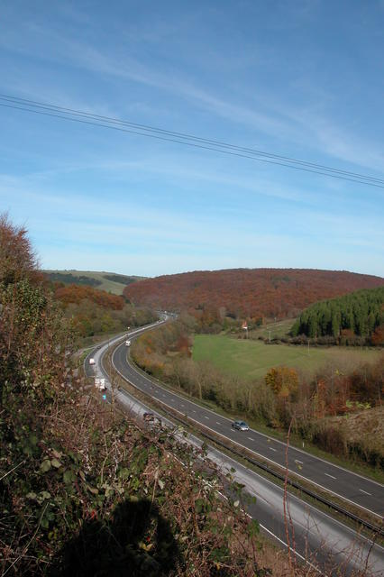 Looking down on the A3