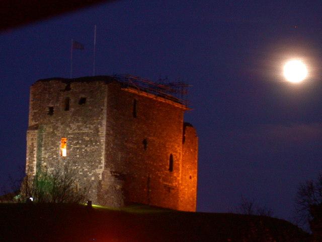 Dundonald Castle by Moonlight.