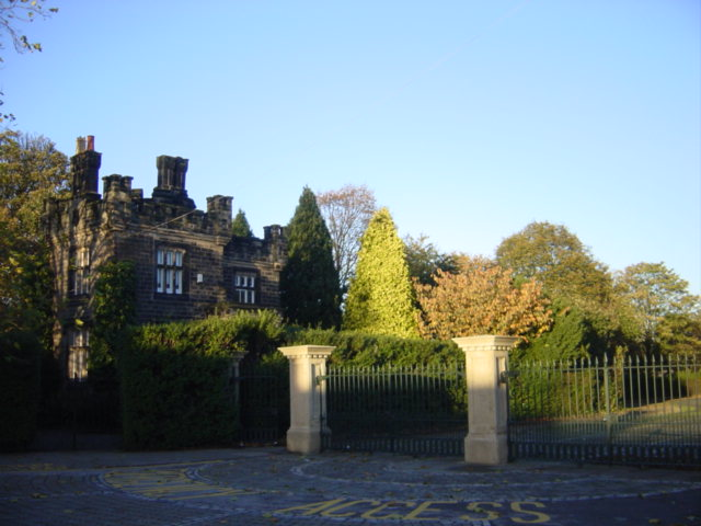 Castellated gatehouse at Birkenhead Park