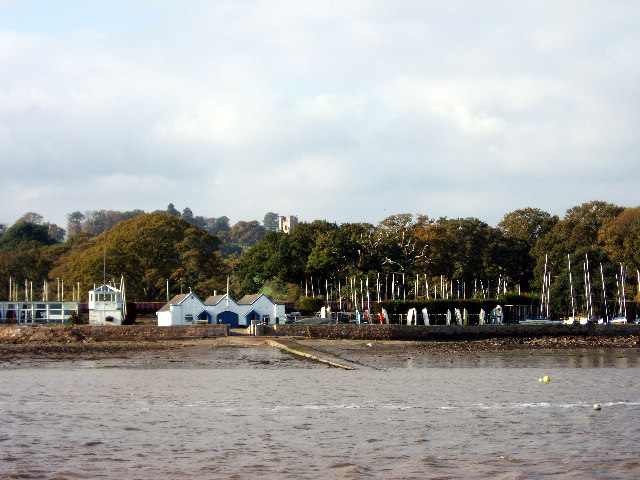Landing stage at Powderham
