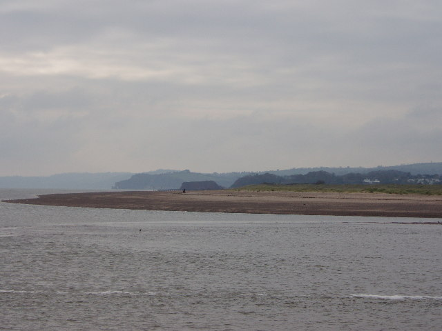 Dawlish Warren from the estuary