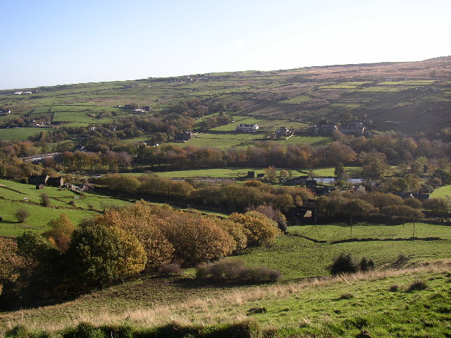 View of the Colne Valley from Marsden Lane, Slaithwaite