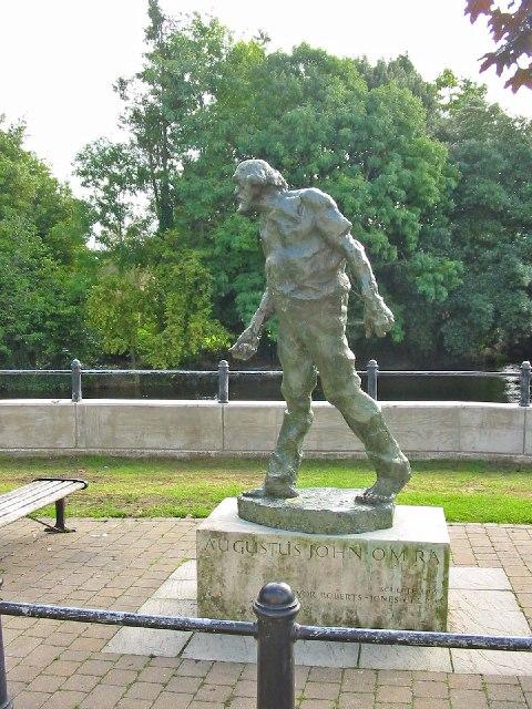 Statue of the artist  Augustus John, OM. RA.
