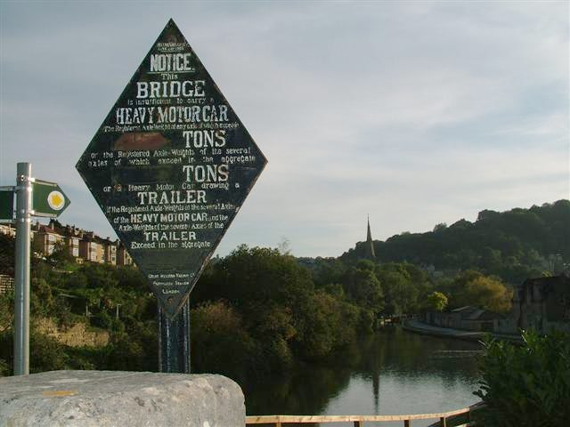 Old GWR Canal Bridge Sign, Pulteney Road
