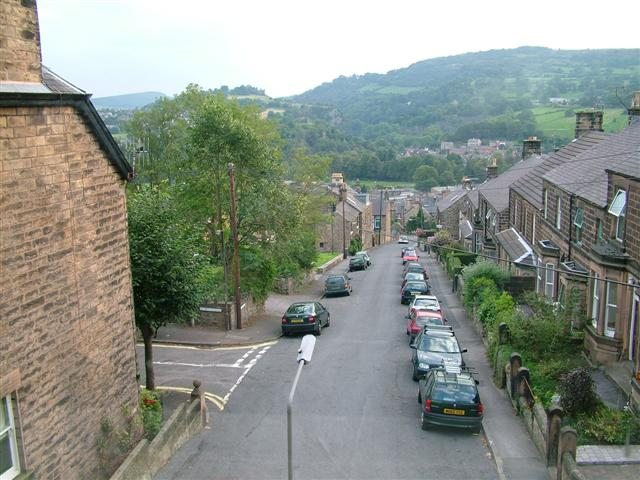 Matlock Bank as seen from the Hillview B&B