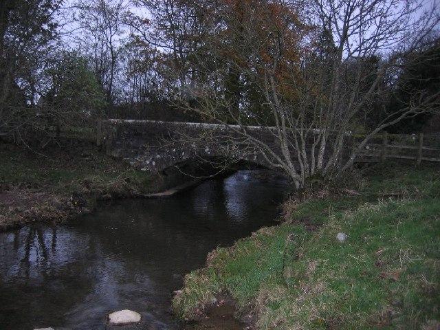 Road bridge in low area of roadway.