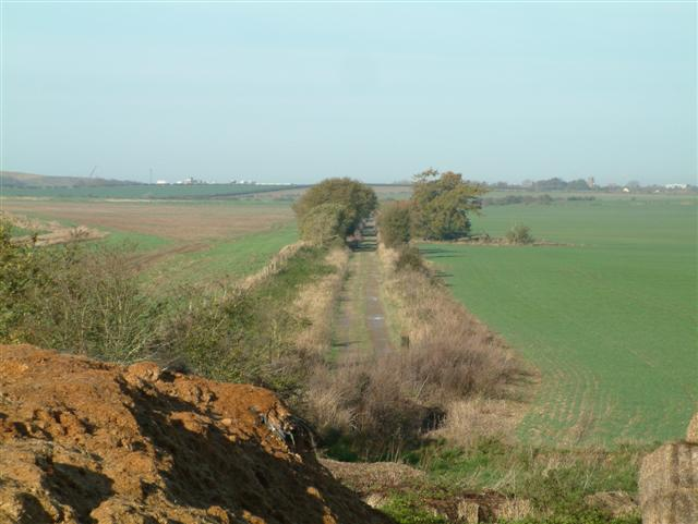 Old Railway bed across the downs