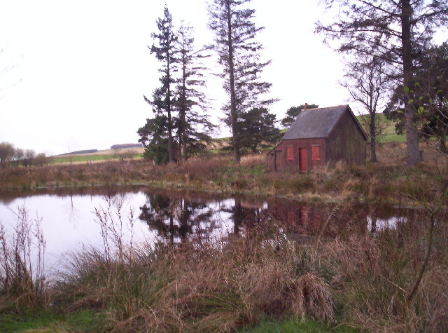 A small fishing pond and bothy