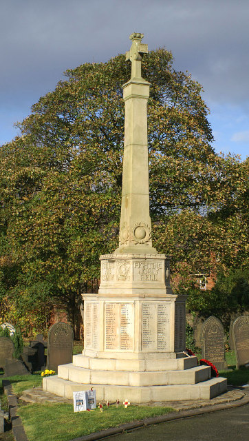 Great War Cenotaph in Ince Cemetery