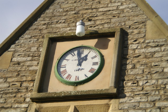 Detail of Cemetery Lodge, showing locally-made clock
