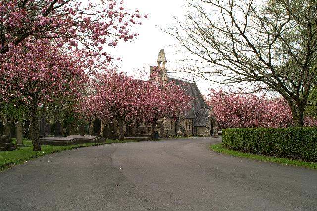 Wigan Crematorium in Wigan Cemetery, Lower Ince