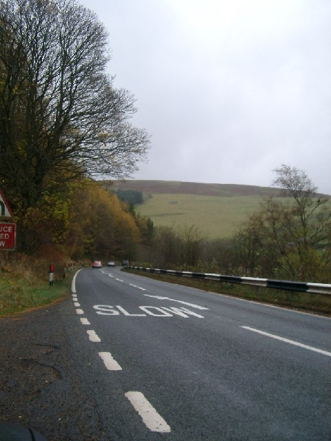 A7 near Sheep Wash, Cottie Hill at the back