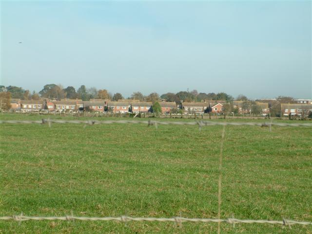 Looking North to the Housing Estates of Didcot