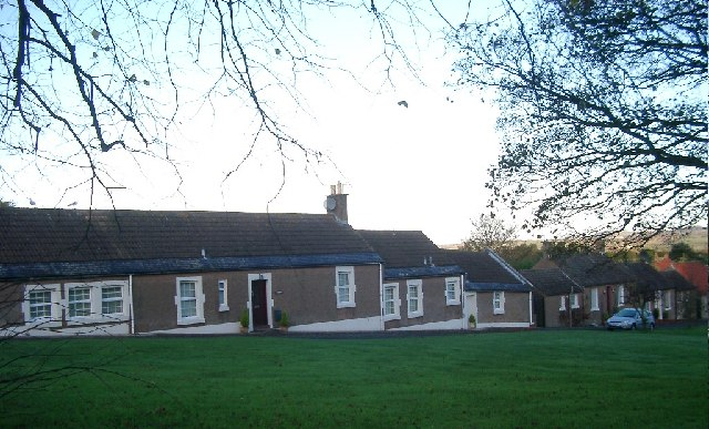 Houses on East Ord green