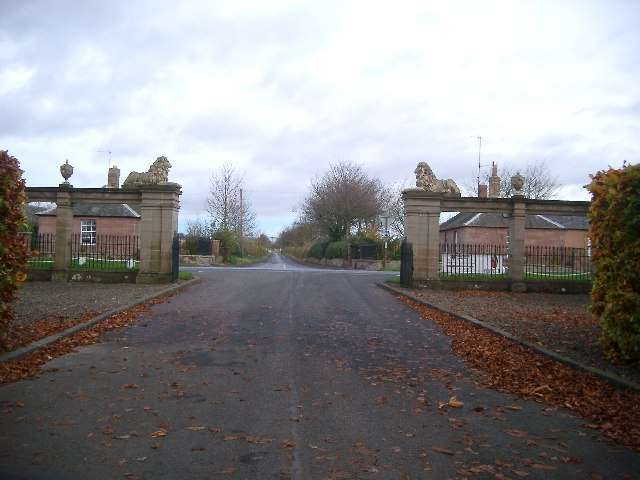 Paxton Gates with road to village
