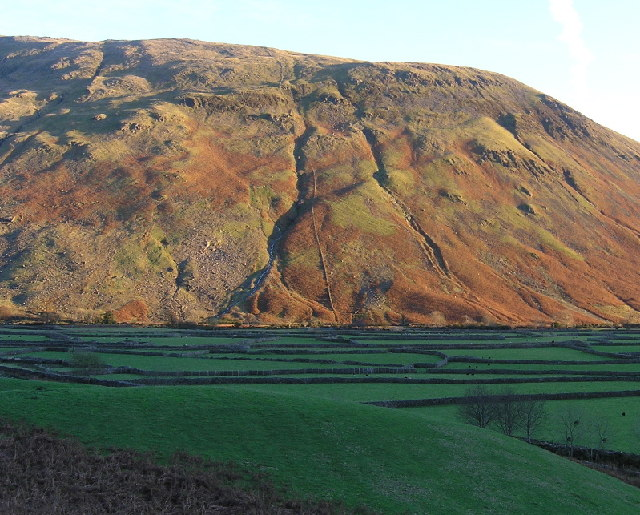 Lingmell from the bottom of Mosedale