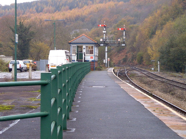 Abercynon south station and signal box