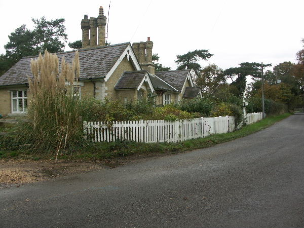 Cottages at the junction of Stanswood Road and Lepe Road, Hants
