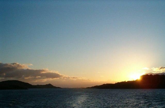 Sunset on West Loch Tarbert, Argyll