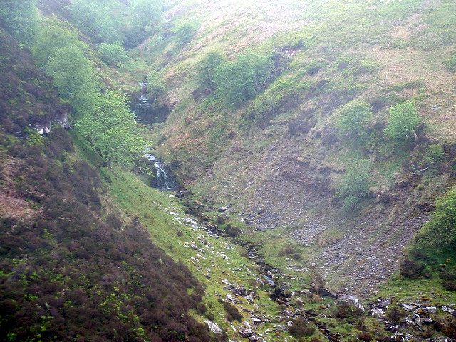 Valley of Nant Uchaf on the slopes of Rhiw y Fan