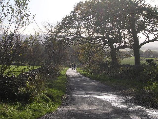 Gartmore Road leading towards Drymen