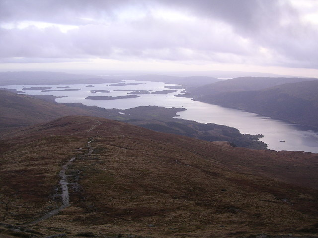 Loch Lomond from shoulder of Ben Lomond