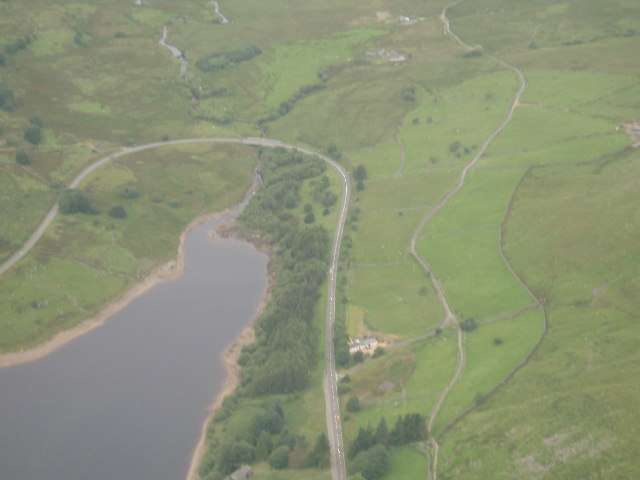 Northernmost point of Llyn Celyn reservoir
