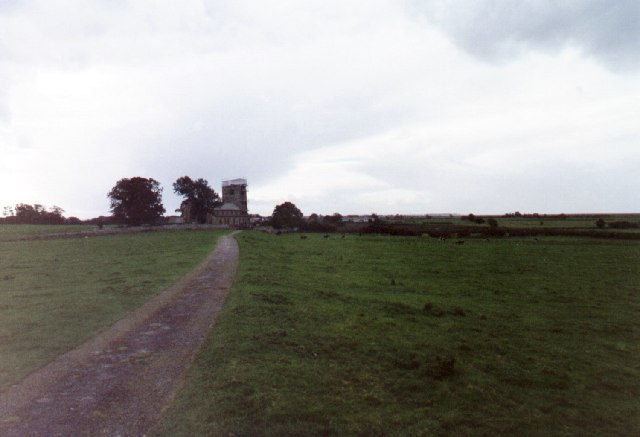 The field path to St. Michael's Church, Cockerham