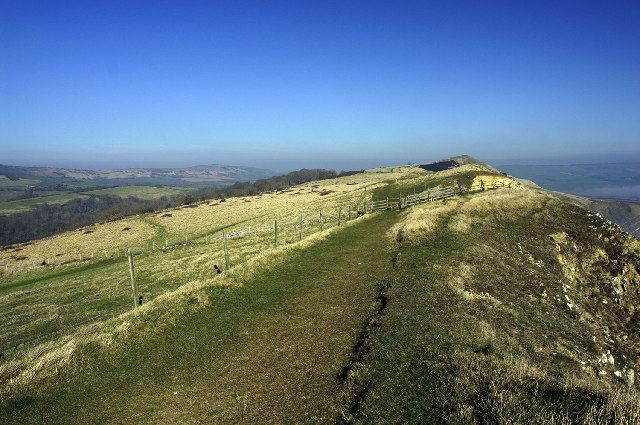 Dorset Coastal Path, Gad Cliff