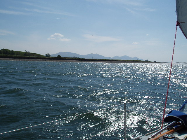 Caernarfon end of Menai Straits
