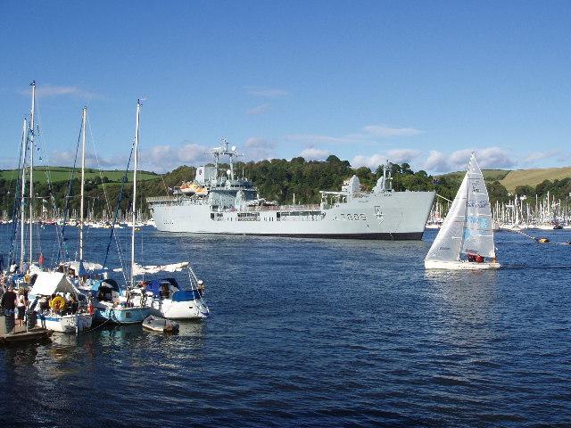 Royal Navy ship at Dartmouth