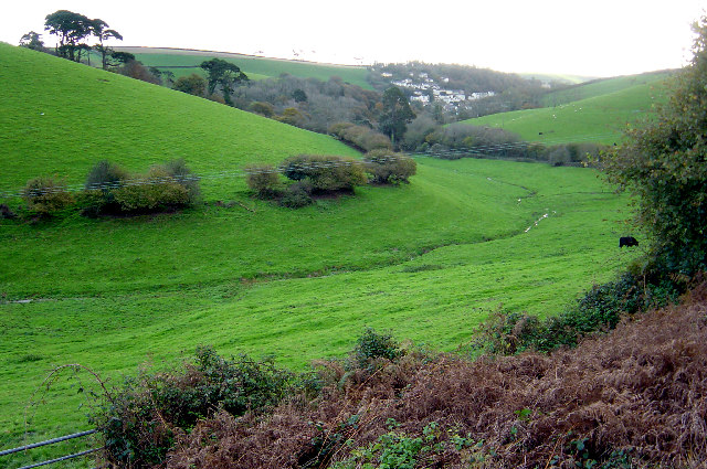 The valley above Kingswear
