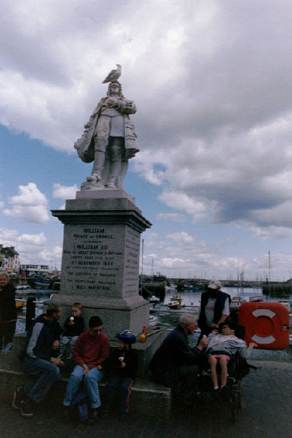 Statue of Prince William of Orange, who landed at Brixham, November 5th, 1684