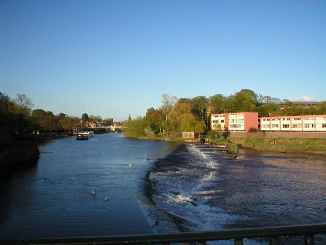 The Weir from Old Dee Bridge