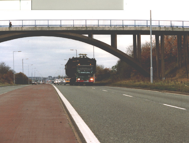 Bridge over the A580 East Lancs Road at Windle