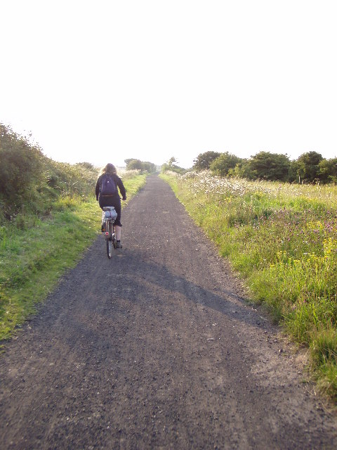 Cycle path near Whitby, North Riding of Yorkshire