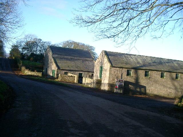 Farm buildings and 'phone, Beanley